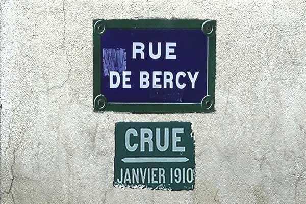 Hochwassermarke Paris Bercy